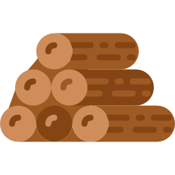 Wooden logs icon